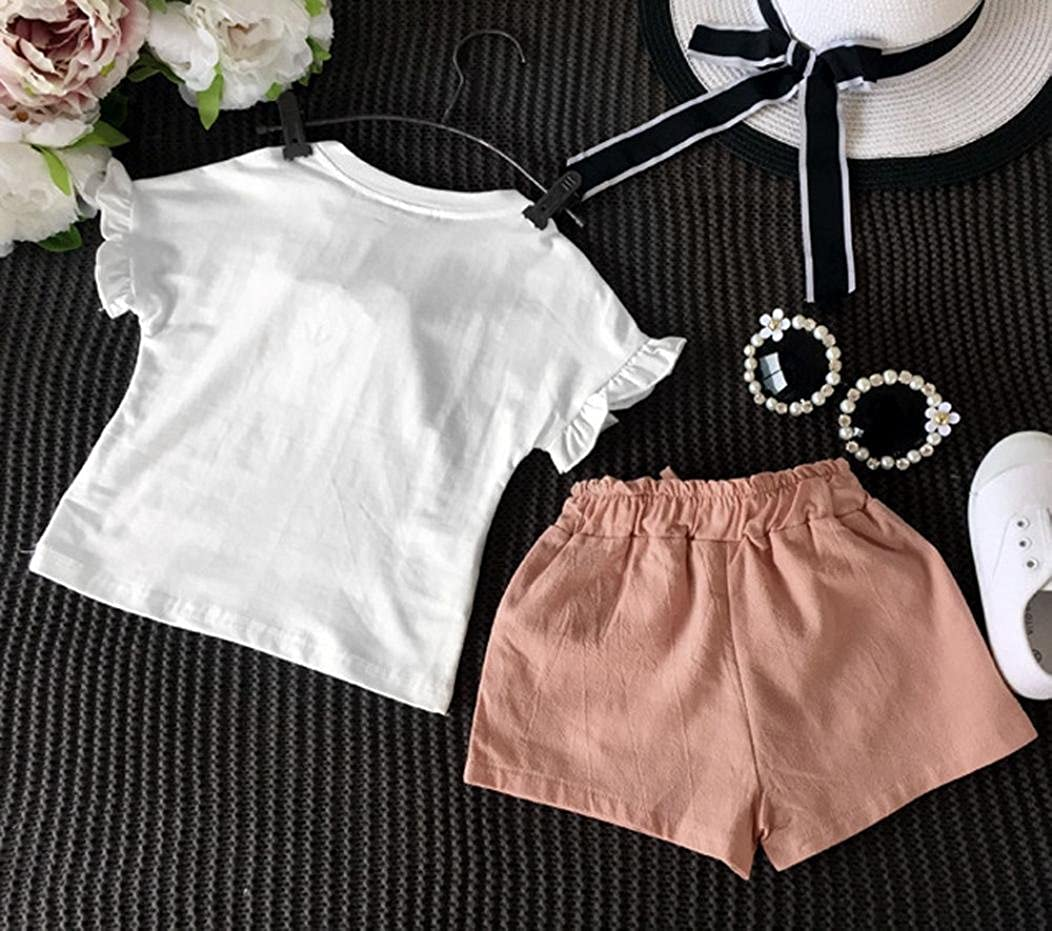 IGEMY Summer Kids Baby Girls Outfits Clothes T-shirt Tops+Short Pants Shorts Set