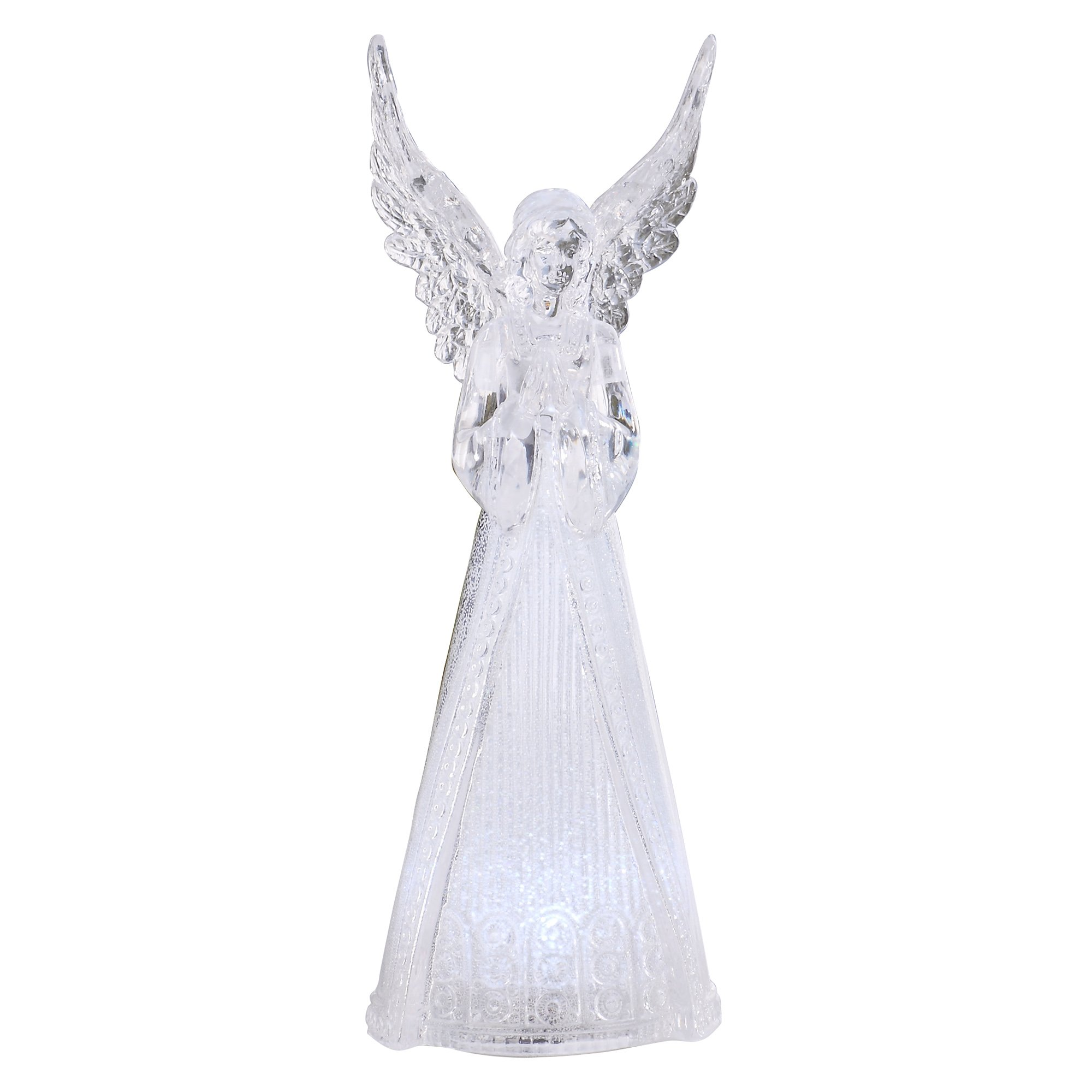 Napco Clear Angel Figure with LED