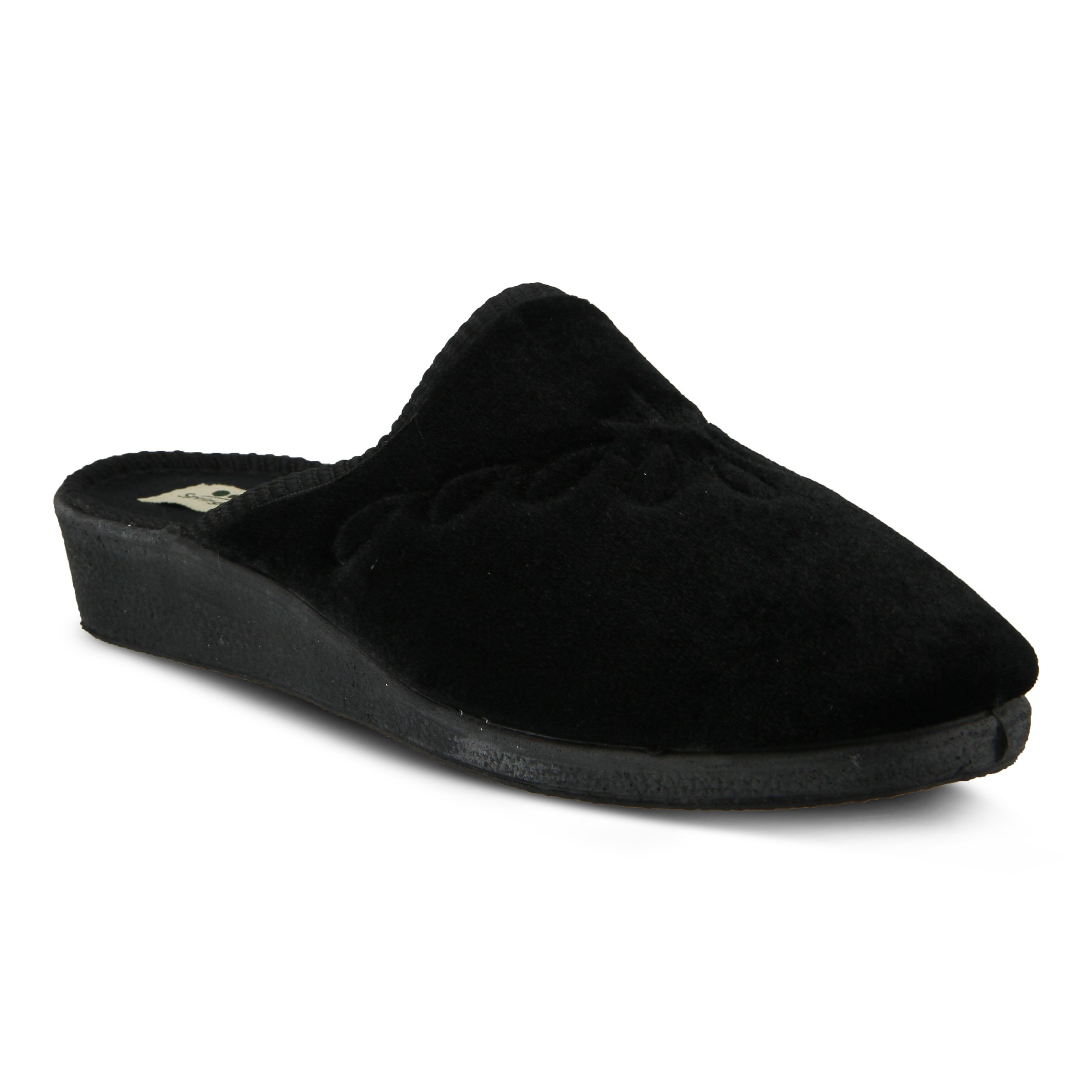 Spring Step Women's Josie Slip on Slipper, Black, 36 EU/5.5-6 M US