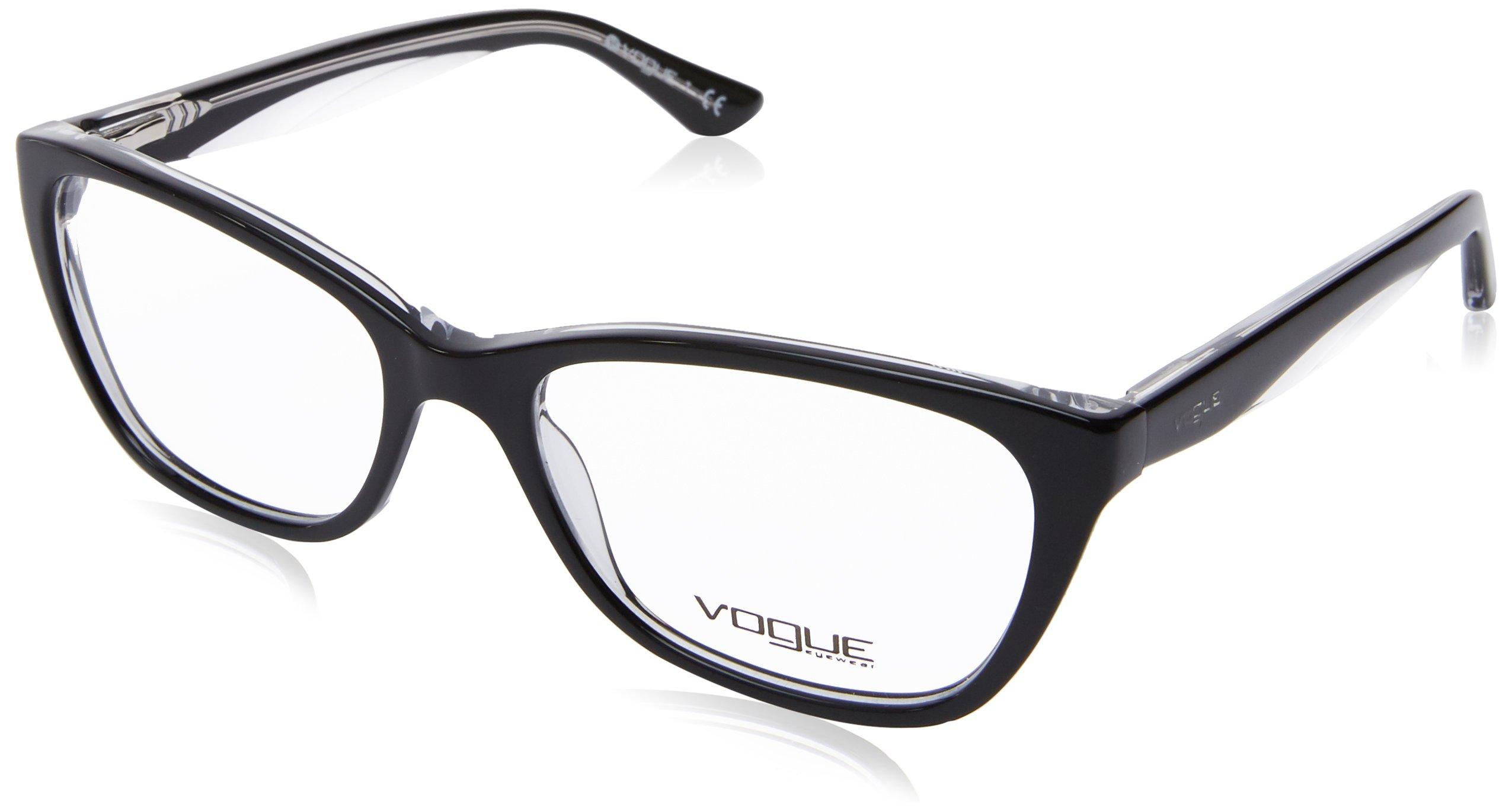 Vogue VO2961 Eyeglass Frames W827-53 - Top Black/Transparent VO2961-W827-53