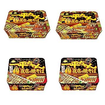 Amazon.com : Ippeichan Night Shop Fried Noodles 4.8oz 2Types ...