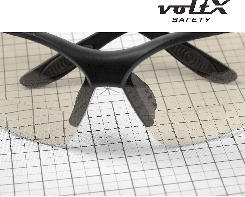 Reading Safety Glasses voltX Constructor Lunettes de s/écurit/é de Lecture BIFOCALES avec Cordon dot/é dun arr/êtoir//Lunettes de Cyclisme Certifi/ées CE EN166F Miroir dioptrie +1.0