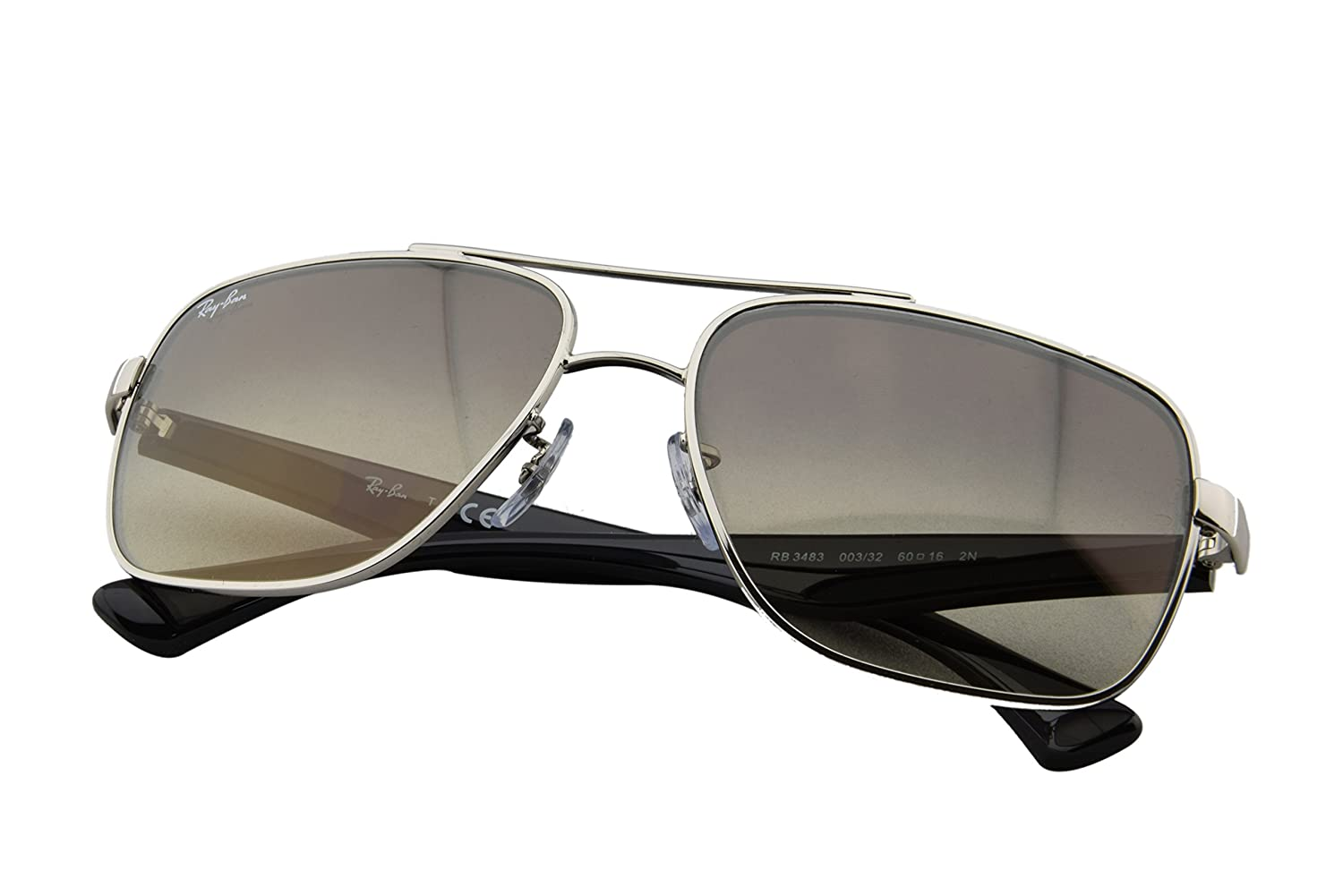 99096693e3 Amazon.com  Ray-Ban RB3483 - 003 32 Sunglasses Silver