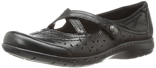 Cobb Hill Rockport Parker Ch Flat - Zapatillas Para Mujer, Negro (Negro), 6.5 B(M) US