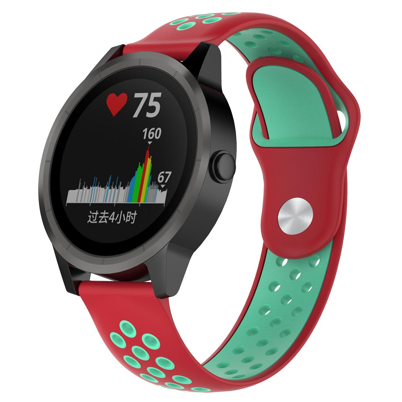 QGHXO Breathable Band for Garmin VivoActive 3 Soft Silicone Strap for Garmin VivoActive 3 Garmin Vivoactive 3 Music//Garmin Forerunner 645 Music Smartwatch