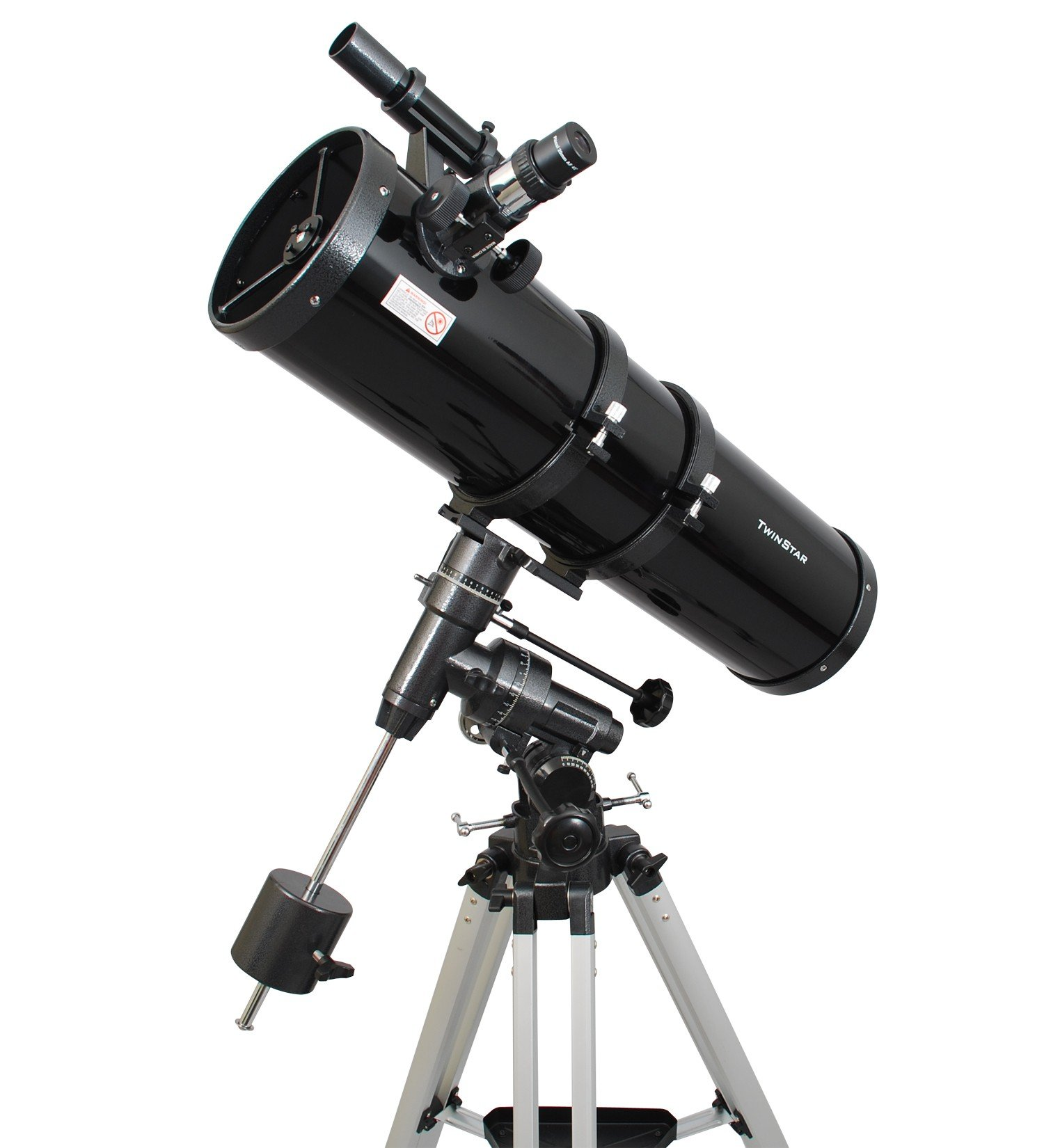 Black Twinstar 6'' Newtonian Long-tube Reflector Telescope