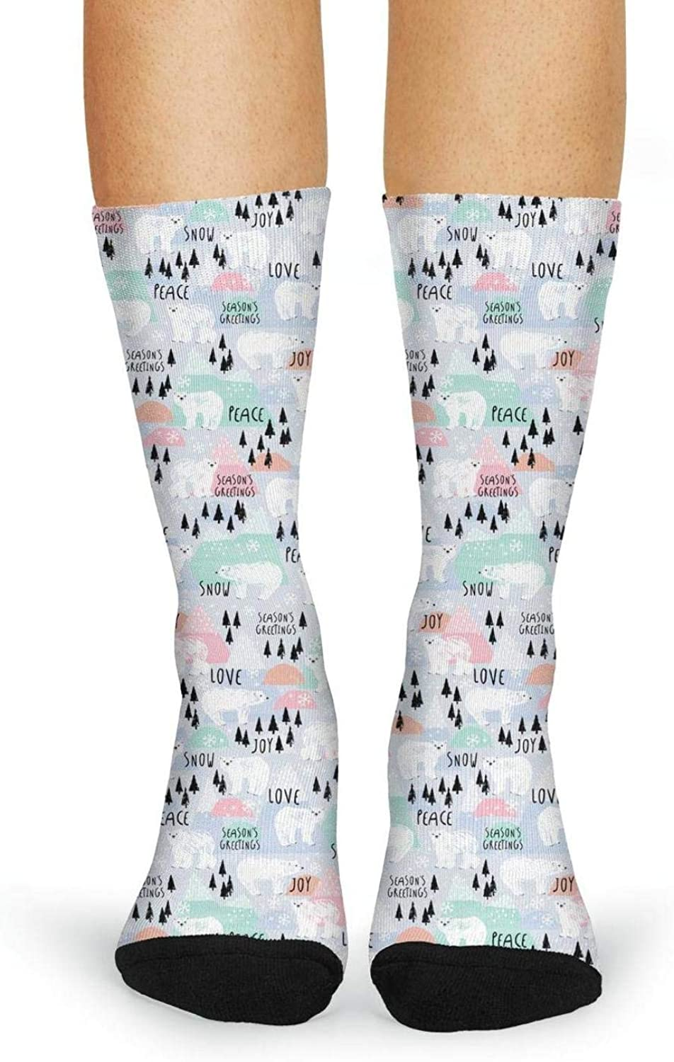 Peace for Paris pattern Casual Socks Womens Cable Soccer Stocking,Hose