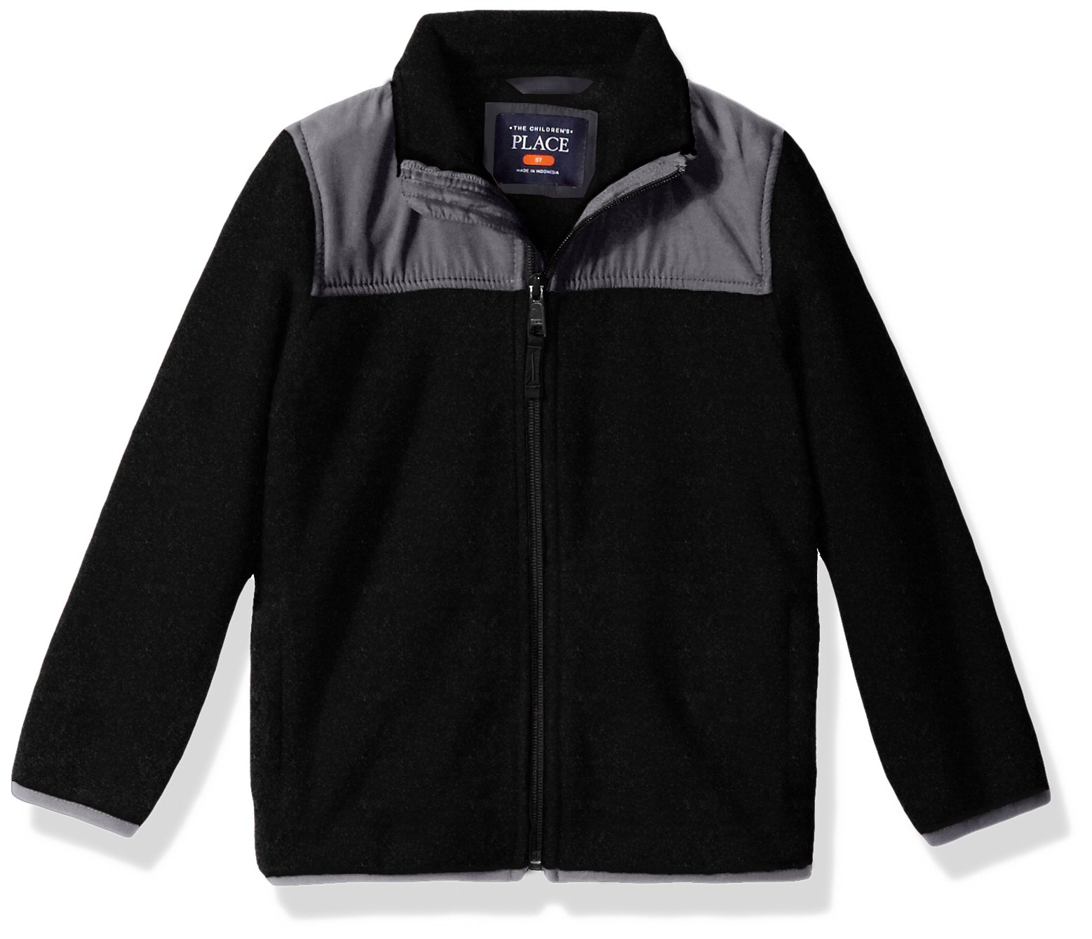 The Children's Place Baby Toddler Boys' Trail Jacket, Black, 4T