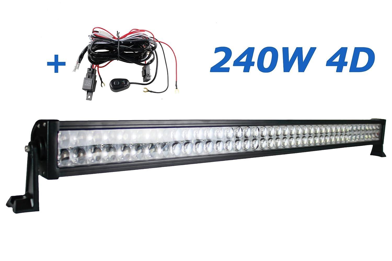 Brightum LED Arbeitsscheinwerfer weiß 12V 24V work light BAR Scheinwerfer Arbeitslicht Offroad SUV UTV ATV Arbeitslampe Traktor Bagger LKW KFZ (240W.4D) BRIGHTUM COMPANY LIMITED