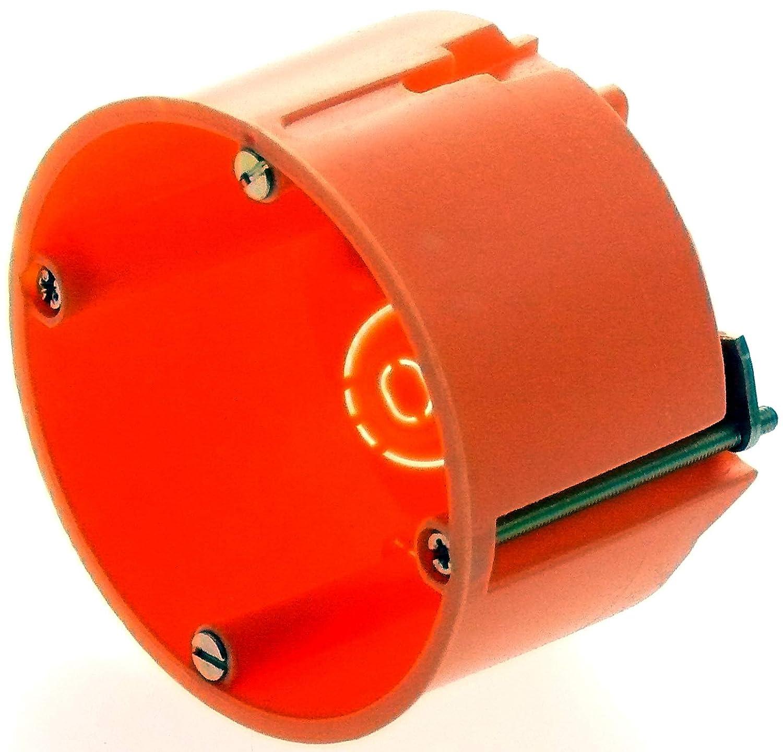 10x Hohlwanddose Unterputz Schalterdose Abzweigdose Hohlwanddosen Verbindungsdose 68x48mm Orange
