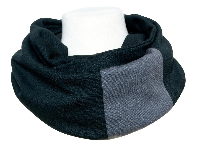 Edler Jersey Loopschal schwarz grau - Mä nnerloop