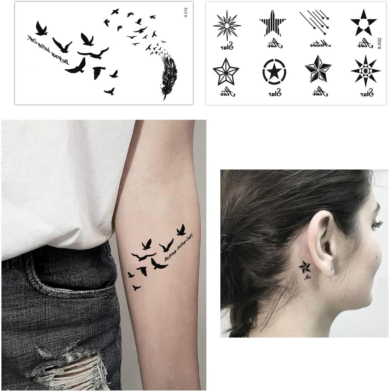 Konsait Tatuajes temporales para adultos Mujer hombre Niños (30 ...