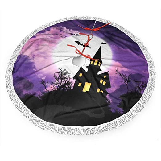 Pengyong Falda de árbol de Navidad para Halloween, bruja, galaxia ...
