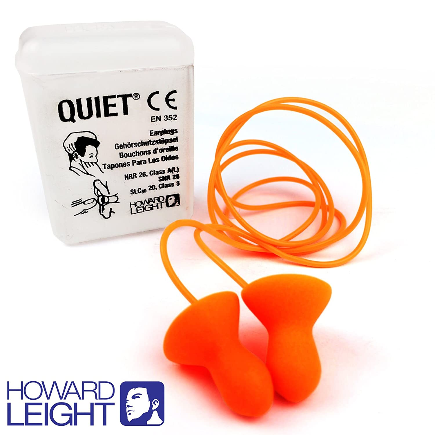 HOWARD LEIGHT SMARTFIT REUSABLE CORDED EAR PLUGS 1 PAIR FREE DELIVERY