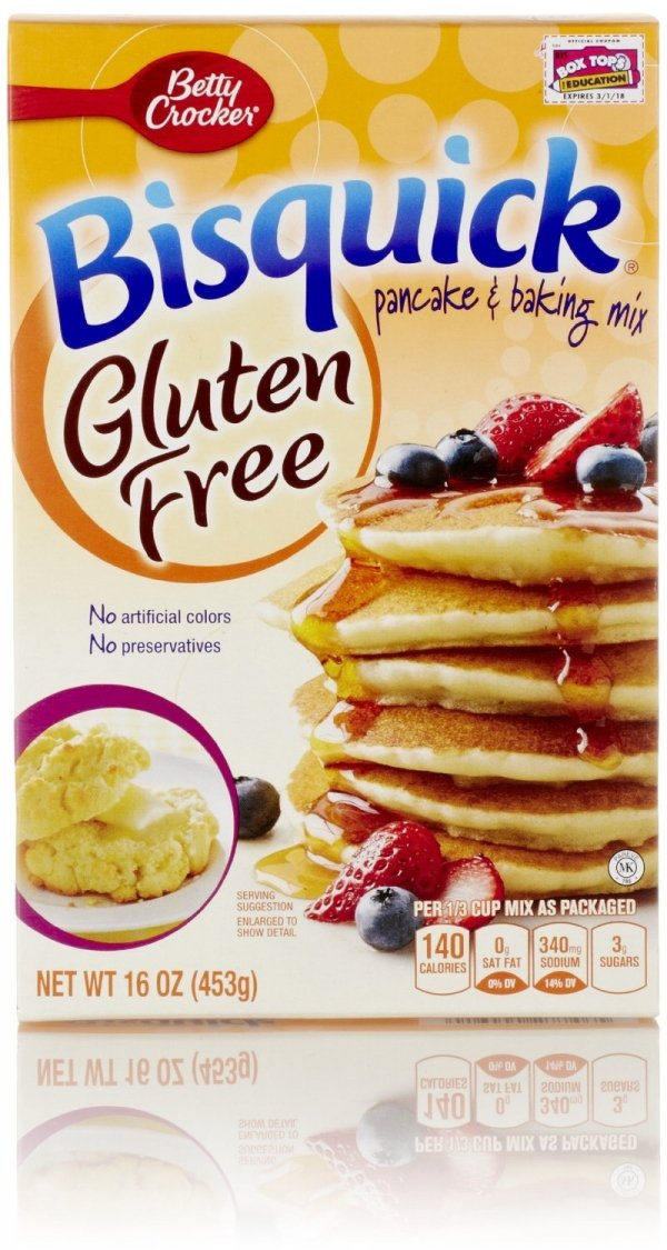 Betty Crocker Bisquick Pancake & Baking Mix Gluten Free 16 Oz Each (2 Pack)