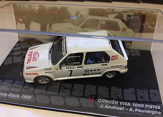 Générique Citroen Visa 1000 PISTES - Rally Monte Carlo 1985 - ANDRUET - IXO 1/43: Amazon.es: Juguetes y juegos
