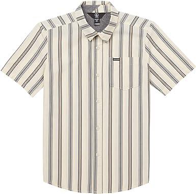 Volcom - Camisa de manga corta con estampado de rayas ...