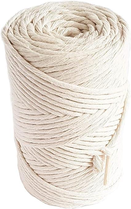 Cuerda de macramé natural de 3 mm de algodón de 140m cuerda de ...