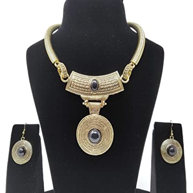 8d341c6bdaf313 Buy Swag Fashion Stylish Party wear fancy Necklace Set For Women   Girl -  Multicolor (Black) Online at Low Prices in India
