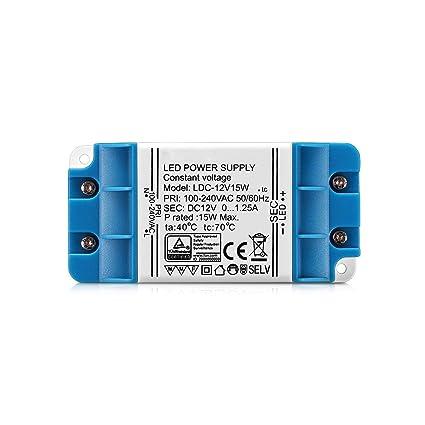 Wowatt Pack de 4 Transformador Led 12V 15W 1.25A Fuente de ...
