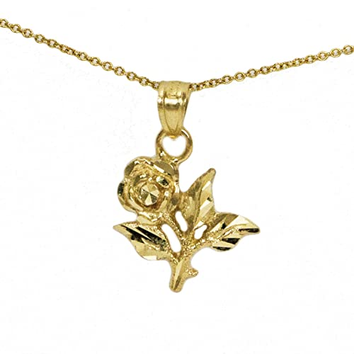cut heart diamond italy rose product yellow gold stars treasures roses pendant beloved and chain star tone