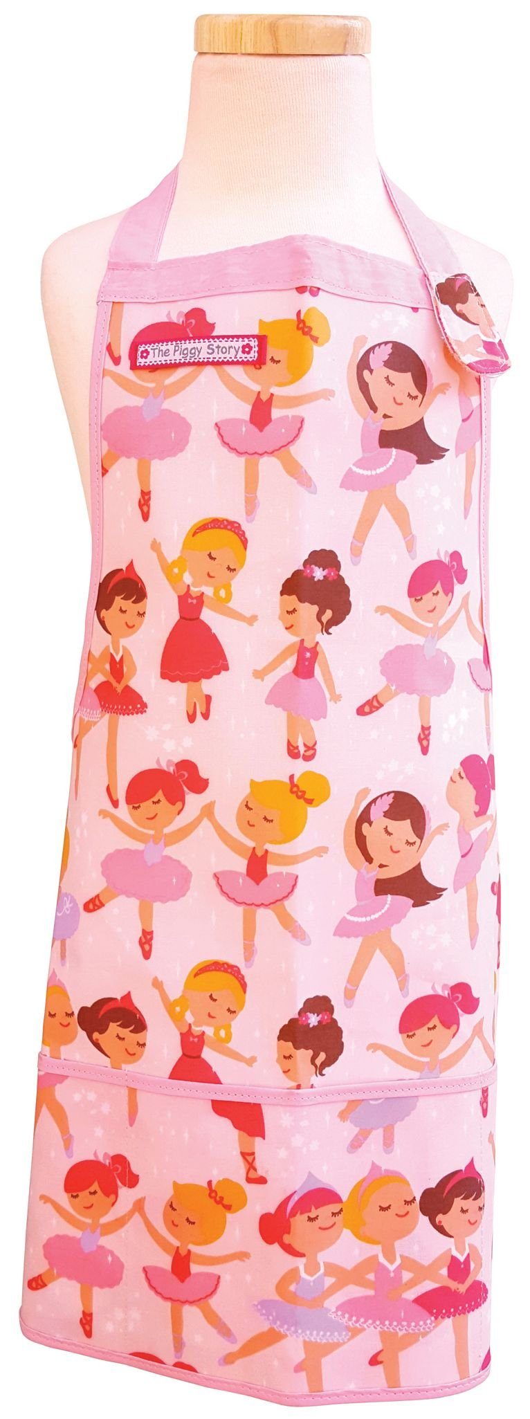 The Piggy Story 'Pretty Ballerinas' Child's Fun Time Apron for Arts, Crafts and Cooking