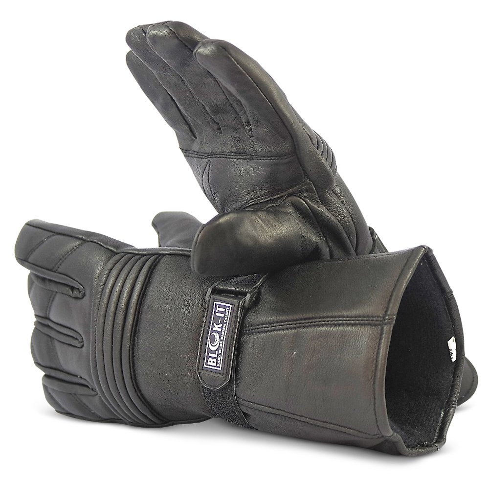3M Thinsulate Material Blok-iT Full Leather Motorcycle Gloves by Gloves are Thermal For Bikers Motorcycles /& Motorbikes.