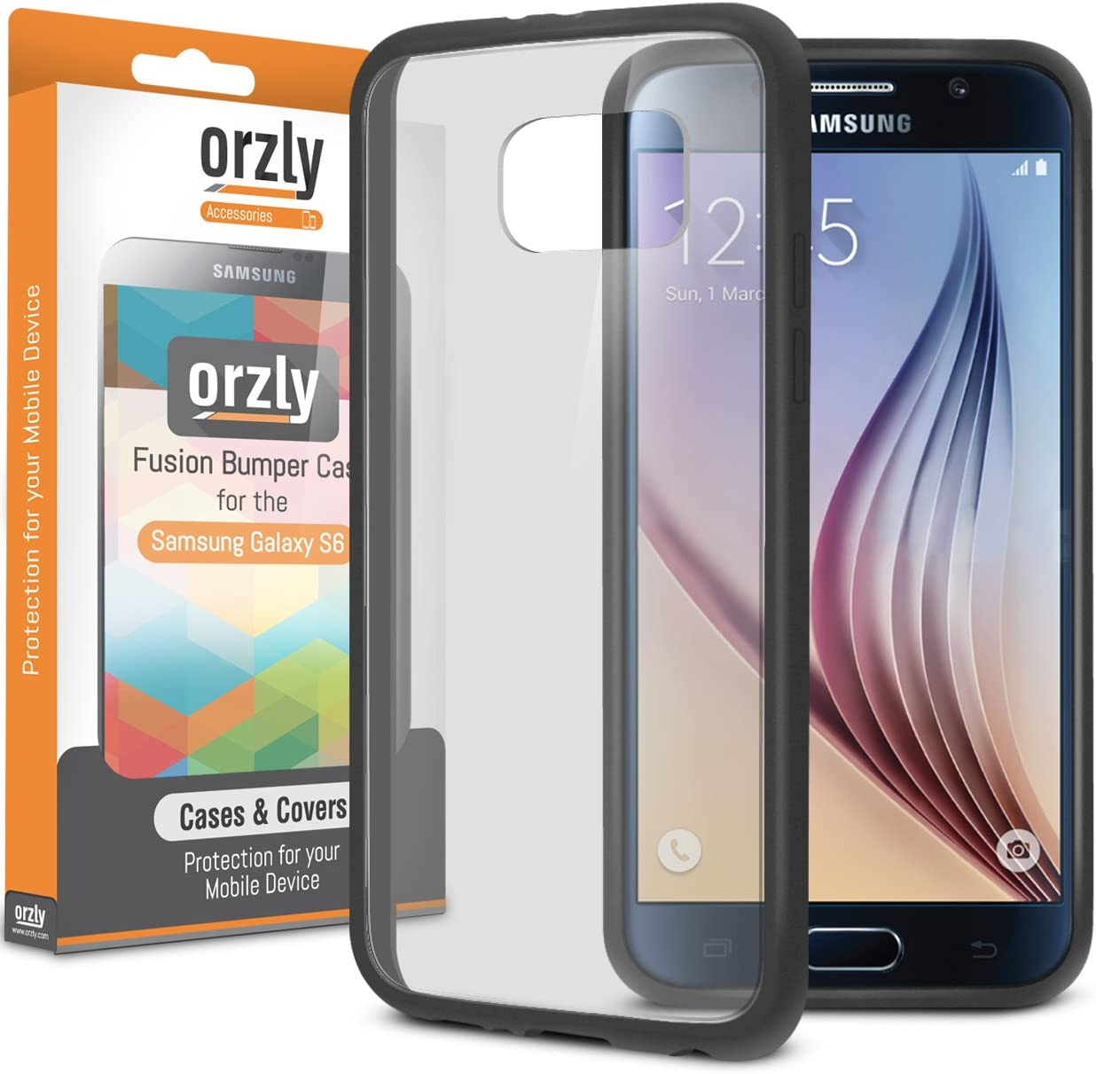 Orzly® Fusion Bumper Case for Samsung Galaxy S6 - Fusión Gel Funda ...