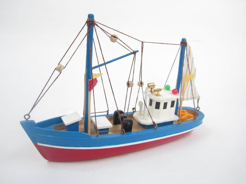 Blue Dolphin Starter Boat Kit: Build Your Own Fishing Boat Wooden Model Ship Tasma
