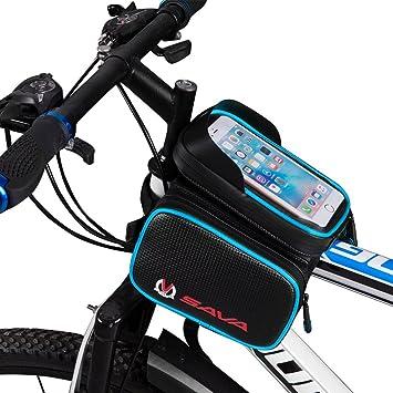 "Sava Bolsa Bicicleta Movil Bicicleta Funda Impermeable con PVC para Teléfonos Móviles hasta 6.0"" de Pantalla Bolsa Frontal Bicicleta Funda Movil ..."