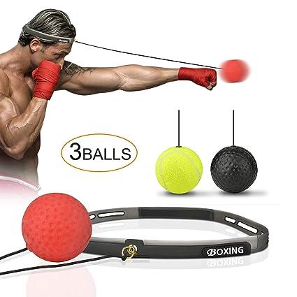Amazon.com: Himover Balón de boxeo reflectante, 3 niveles de ...