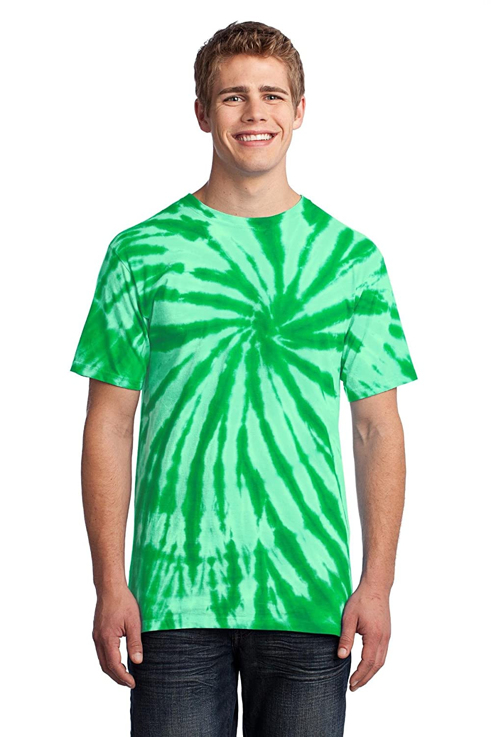 Port /& Company Mens Essential Tie-Dye Tee