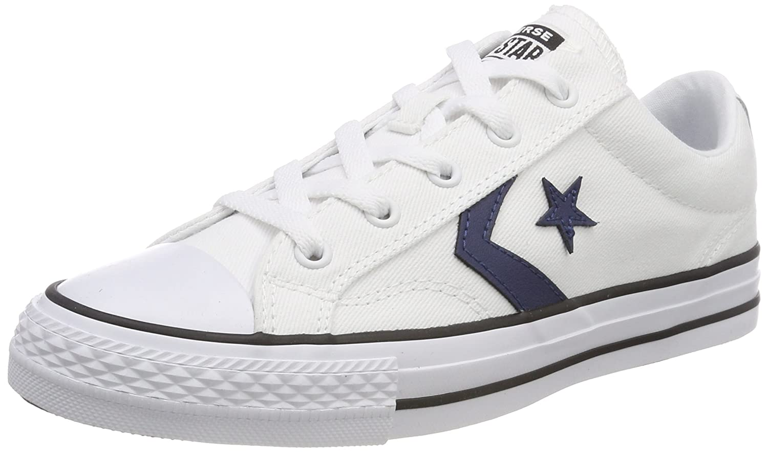 Converse Unisex-Erwachsene Star Player OX White/Navy/Black Sneaker  51.5 EU|Wei? (White/Navy/Black 102)