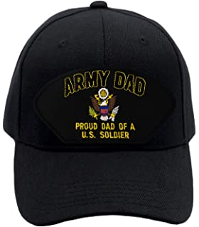059219cdc1dab Patchtown Army Dad - Proud Dad Of a US Soldier Hat Ballcap (Black)