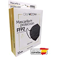 Mascarillas FFP2 negras homologadas y fabricadas en España CE 2797, filtrado de 5 capas - GrupoZona - Mascarilla ffp2…