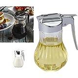 Jarabe de cristal y dispensador de miel jarra–Dispensador de crema, lágrima, mesa, Bar Cafe