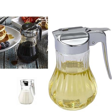 Smartstore cristal jarra de miel y jarabe dispensador – dispensador de crema, lágrima, mesa