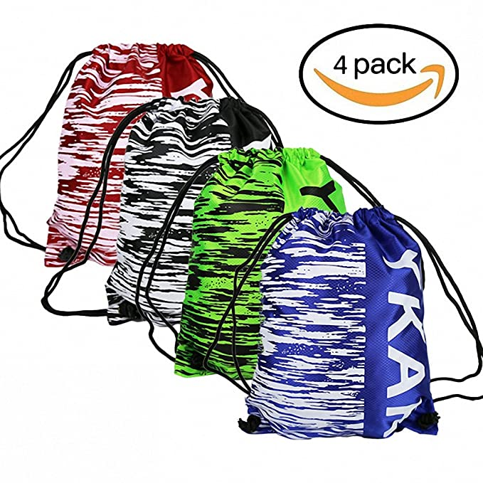 ce74db4fa279 Image Unavailable. Image not available for. Color  Women s Men s Sports  Drawstring Backpack Bags Outdoor Gym ...