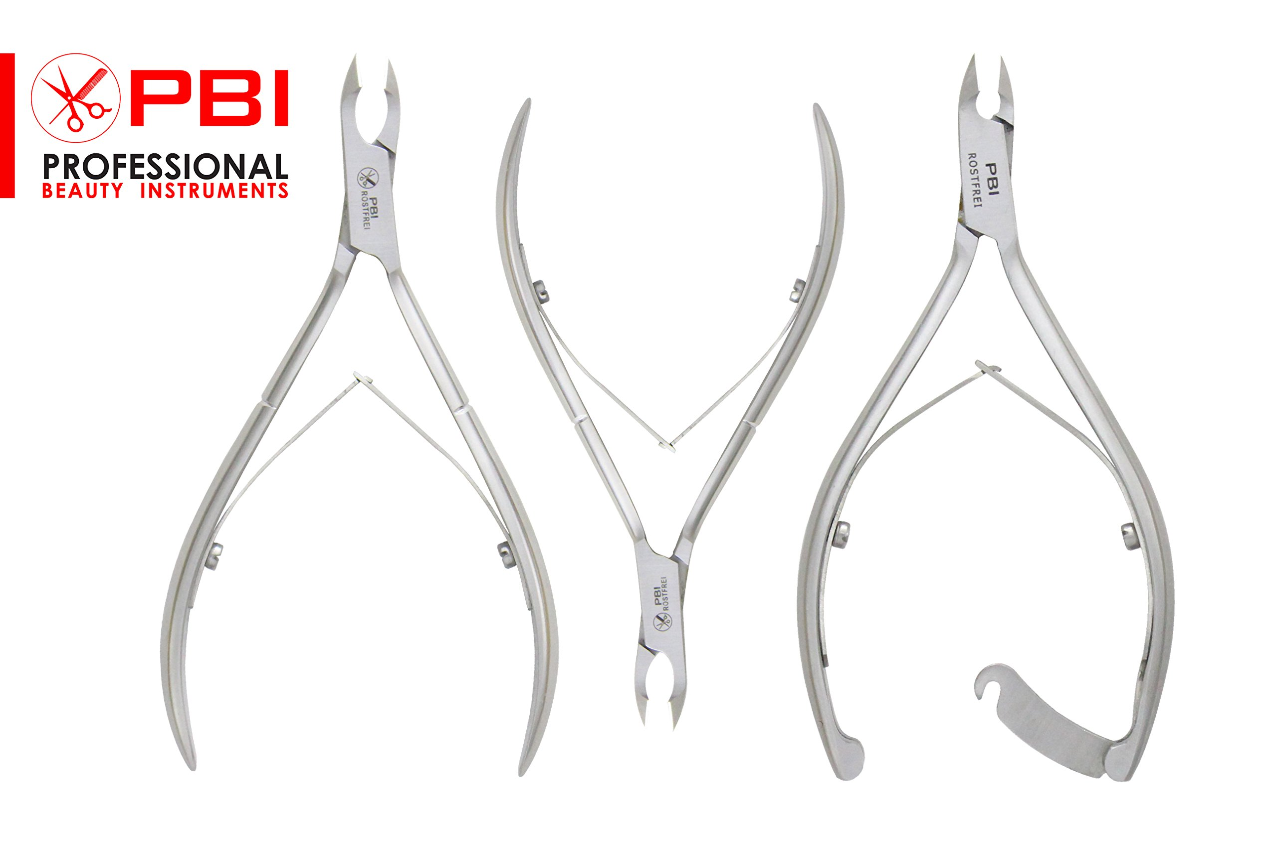 Cuticle Nipper Stainless Steel Pliers With Double Spring (3 Pieces Set) Manicure Pedicure From PBI