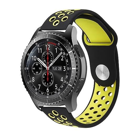 14 opinioni per Gear S3 Cinturino, iBazal Gear S3 Frontier/ Classic Cinturino 22mm Smartwatch