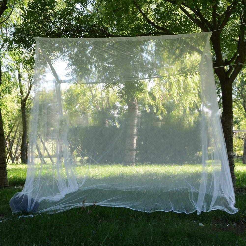 Generp Mosquito Net For Travel And Home Universal White Dome Mosquito Net Mosquito Mesh Net Bed Tent With Adhesive Hook Travel Bag 200200180cm
