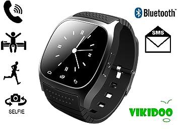 M26 SMARTWATCH Reloj táctil, BLUETOOTH, manos libres Compatible con IOS y android-negro: Amazon.es: Electrónica