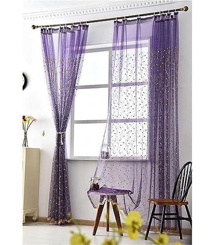 BKFF® Tulle Tende Tende curvate moderne per tende per finestra Tulle ...