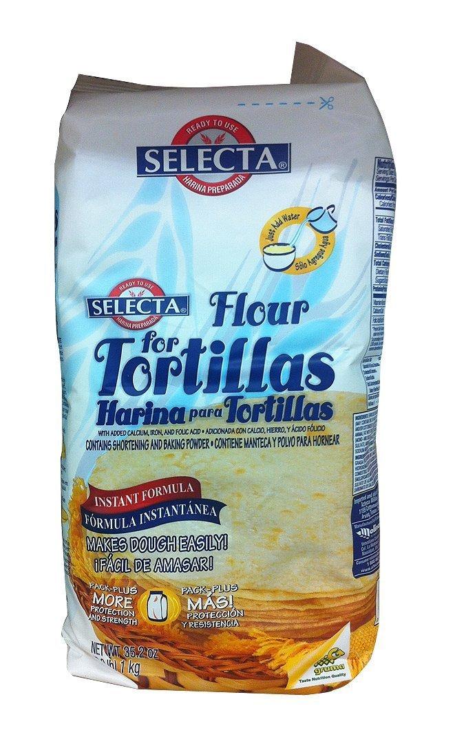 Selecta Flour Tortilla Ready Mix 2.2lb Bags (Pack of 4)