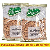 Purna Big Almonds - 400 gm + (Pack of 2)
