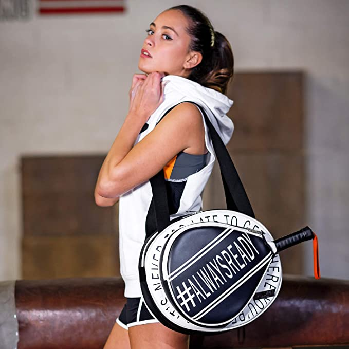 IDAWEN Sport Fashion Bolso Padel Mujer Blanco y Negro. tamaño Mediano. Paletero Padel.: Amazon.es: Deportes y aire libre