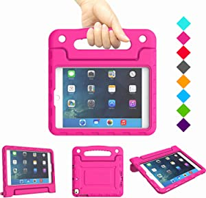Kids Case for iPad Mini 1 2 3 4 5 Generation - Lightweight Shockproof Convertible Protection Cover with Built-in Handle Stand Children Tablet and 2019 - Retina Display (Rose)