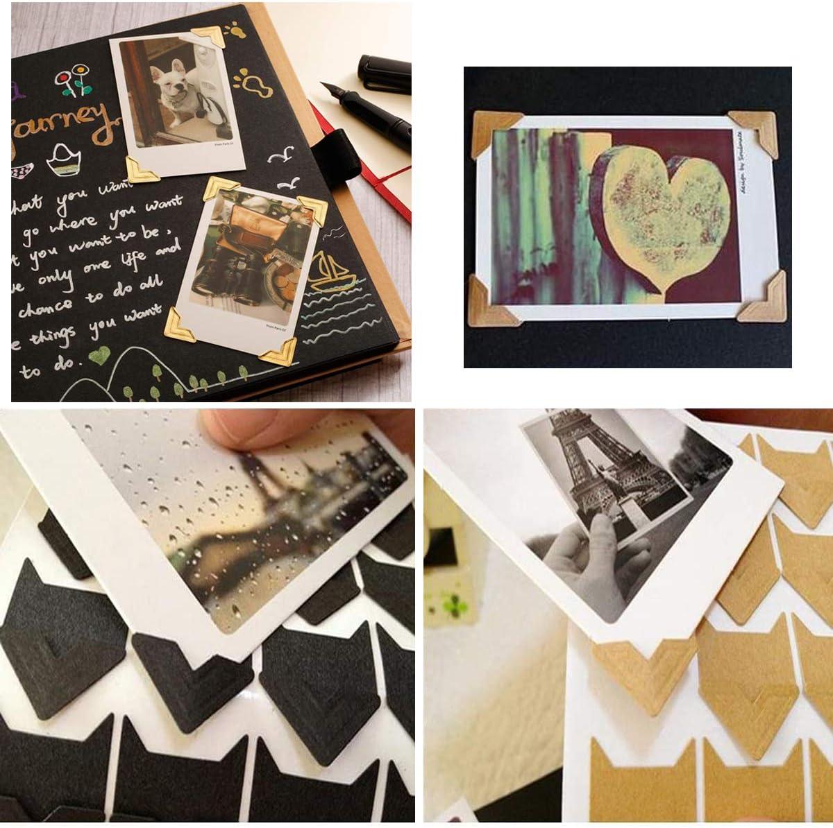Liwein 20 Hojas Pegatinas para Esquinas de Fotos Autoadhesivas Pegatinas de Esquina de Papel Esquinas de Foto para /álbum de Recortes DIY /Álbum de Pictura Diario