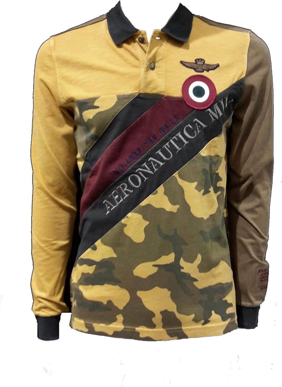 Aeronautica Militare Polo PO1386 90806 Camouflage-Amarillo ...