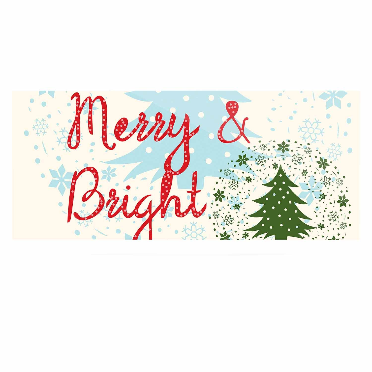 24 x 36 Kess InHouse Famenxt Merry and Bright Holiday Typography Luxe Rectangle Panel